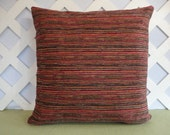 Chenille Pillow Cover in Red Charcoal Black Brown Beige  / Accent Pillow / Decorative Pillow / Throw Pillow / 18 x 18 Pillow