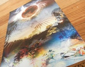 Eclipse Vinyl Art Print - 42.5 x 27.5cm - Visionary Psychedelic Abstract Organic solar eclipse luna spiritual artwork