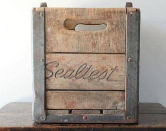 Vintage Wood Sealtest Milk Crate