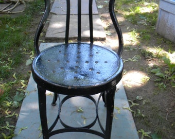 good shape vintage 1930s 1940s INDUSTRIAL UHL TOLEDO metal chair steampunk