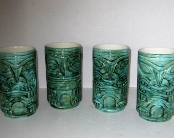 Tiki Mugs, Set of Four