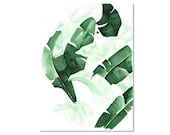 Beverly III Tropical Banana Palm Leaves Watercolor Giclee Fine Art Print Poster of Original Painting