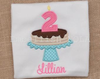 Pancake Appliqued Birthday Shirt, Pancake and Pajama Theme Birthday