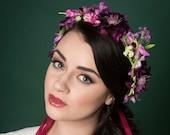 Purple Meadow Floral Crown