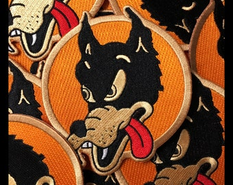 """Wolf Embroidered Patch 4"""" x 4"""""""