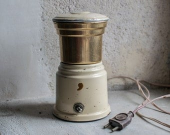 French Coffee Mill or Grinder // Mid Century Metallic