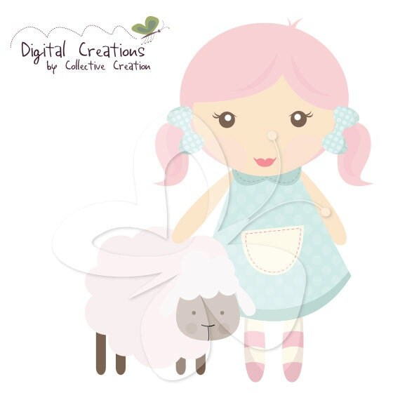 Mary had a Little Lamb Digital Clipart Clip by ...