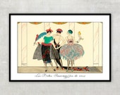 Art Deco fashion illustration, Art Deco print by Georges Barbier. IL084.