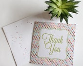 Thank You Cards for Events, a Birthday Party, a Baby or Wedding Shower or a Wedding, Thank You Note, Give Thanks, Gratitude