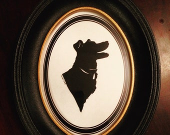 Custom Silhouette Pet Portraits - Great Gift!
