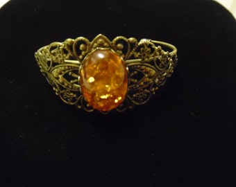 Baltic Amber Faceted Cuff Bracelet
