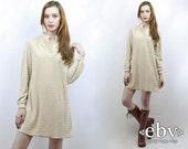 Vintage 70s Beige Terrycloth Mini Dress M Boho Dress Hippie Dress Hippy Dress Summer Dress Beach Dress Terry Dress Terrycloth Dress