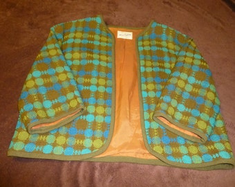 Women's Jacket Vintage New Look Era Green Plaid Great Condition Alexander Lipton of California
