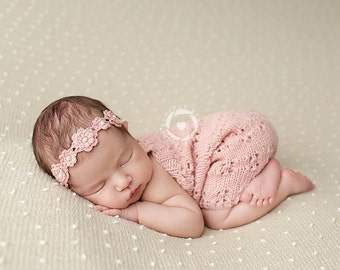 Newborn Overalls, Photo Prop, Lace Overalls