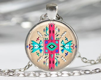 Tribal Necklace BoHo Jewelry Necklace Wearable Art Jewelry Tribal Pendant Native American Jewelry
