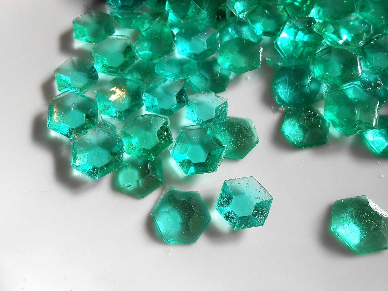Mine Craft Party Aqua Candy Gems Edible Sugar Jewels