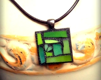 Green Abstract Necklace
