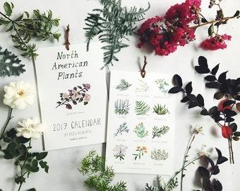 2018 North American Plants Calendar- 6 x 9