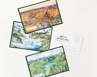 National Parks Post Card Pack