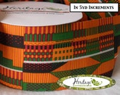 """5yds - 10yds - 15yds KENTE STYLE Ribbon NON-Wired - 2-1/2"""" wide"""