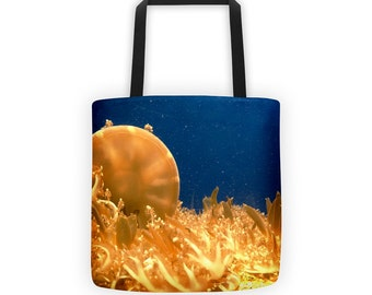 Sea Jellies Marine Life Tote for Eco Shopping and School and Sundry