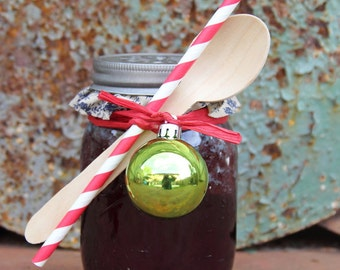 "It's a ""Blue travel cup"" Christmas - 16oz blue ball jar with your flavor jam/jelly/etc"