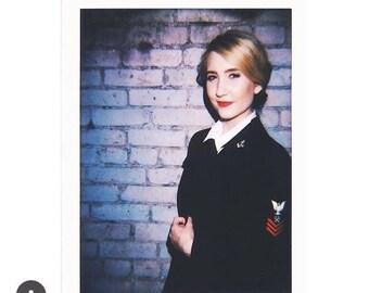Vintage World War I women's dark blue jacket size small