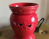 HOLIDAY EDITION-Valentine's Day Theme - Ceramic Oil and Wax Tart Warmer.