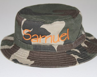Personalized Infant & Toddler Bucket Hat with Chinstrap