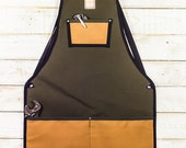 Utility Apron -- Olive + Honey