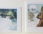 Sally Winter luxury Christmas greeting cards four pack .