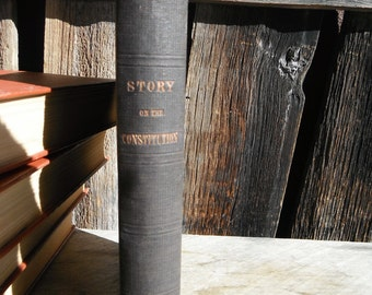 CHARITY - Antique 1800's Historical Book - Story of the Constitution