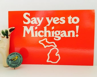 Vintage Michigan Campaign Postcard