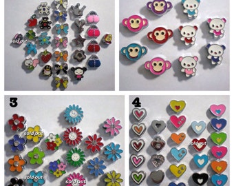 Slide Charms - PICK 3 - Fit 8mm Wristbands