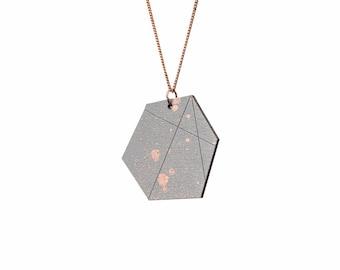 copper dots necklace