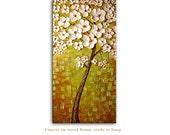Summer Tree - Abstract Art Giclee on canvas home interior DecorPaula Nizamas Ready to hang
