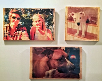 "8x10"" Custom Photo Transfer on Wood or Canvas"
