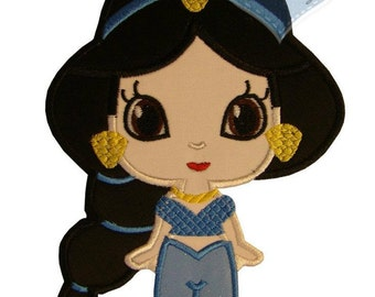 Princess  Applique Embroidered Patch, Sew or Iron on