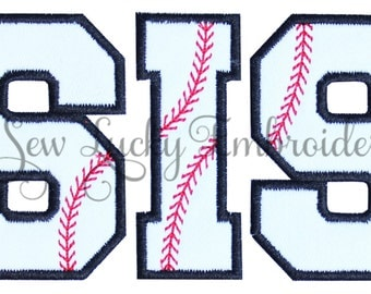 Baseball SIS Applique Embroidered Patch, Iron or sew on