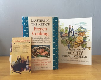 Mastering the Art of French Cooking, Julia Child, 1961 Book Club Edition Set