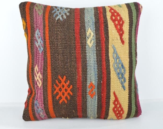 Wool Pillow, Kilim Pillow, KP1061,  Decorative Pillows, Designer Pillows,  Bohemian Decor, Bohemian Pillow, Accent Pillows, Throw Pillows