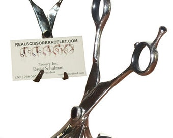 Set of 7 Business card holders mad from real scissors