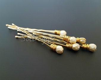Bridal Hair Pins White Wedding Hair Accessories Ivory Hair Pins Bridal Party Gift Bridesmaid Gift White Hair Pins