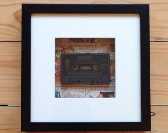 Teenage Mutant Hero Turtles Game C64 Cassette Framed Wall Art - Retro Gaming Gamer Geek Picture Home Decor OOAK Computer Videogames