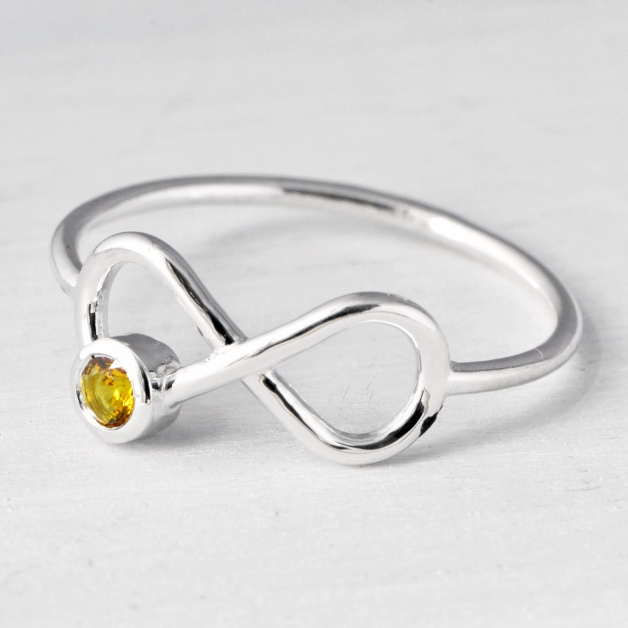 infinity birthstone ring promise ring friendship ring