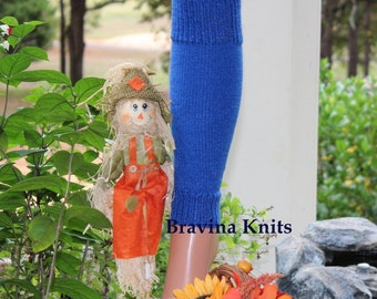 Child Royal Blue Leg Warmers 11 inches