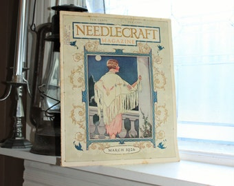 1926 Needlecraft Magazine March Issue Vintage 1920s Sewing