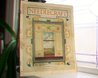 1922 Needlecraft Magazine September Issue with Large Cream Of Wheat Ad Vintage 1920s Sewing