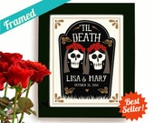 Lesbian Wedding Gift Personalized Day of the Dead Gay Marriage Newlywed Gift Gay Wedding Gift Art Print for Gay  Couple Anniversary