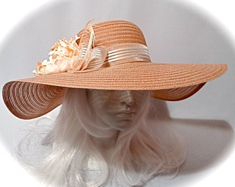 Caramel Derby Hat Women's Sun Hats Kentucky Derby Hats DH-132